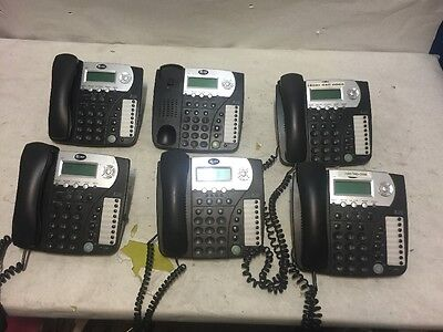 Lot of 6 AT&T 992 Business Phones missing one Handset