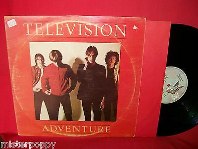 TELEVISION Adventure LP 1978 ITALY EX+ First Pressing + Inner