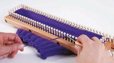 "10"" ( 25CM) Authentic Knitting Board Loom with Plastic Pegs - Includes DVD!"