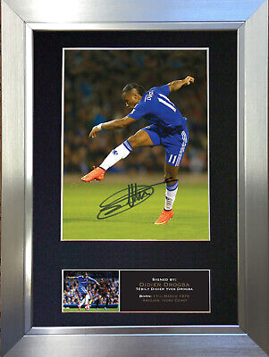 DIDIER DROGBA #2 Chelsea Football Signed Autograph Mounted Photo Re-Print 550