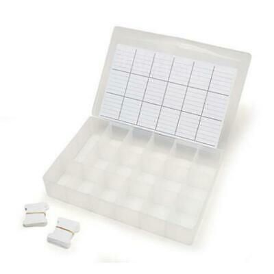 Darice Embroidery Threads Organiser Box - 17 Compartment + 50 Card Bobbins DCB50