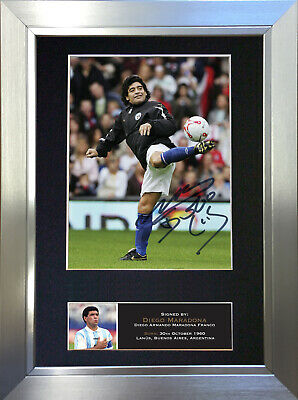 DIEGO MARADONA Argentina Football Signed Autograph Mounted Photo Repro Print 534
