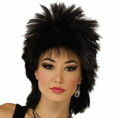 Mens Ladies 70s 80s 90s Glam Rock Punk Rocker Long Spiky Wavy Fancy Dress Wig