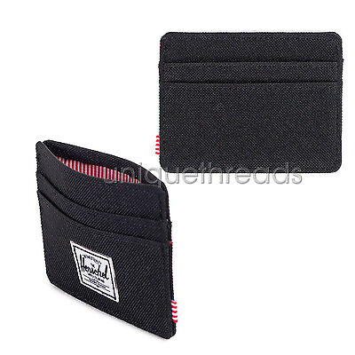 Herschel Supply Co. Black CHARLIE WALLET Card Holder