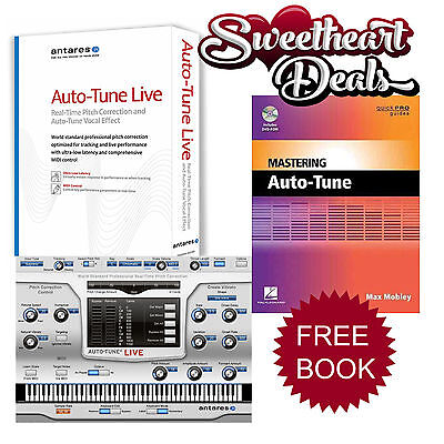 Antares Auto-Tune Live download w/ FREE Mastering Auto Tune book with DVD ROM!