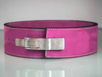 Powerlifting 10mm Pink Lever Belt - IPF APPROVED   FREE FAST SHIPPING!