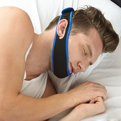 Anti Snore Sleep Apnea Stop Snoring Strap Belt Jaw Solution Chin Support - UK
