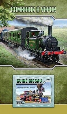 Z08 IMPERFORATED GB16508b GUINEA-BISSAU 2016 Steam trains MNH