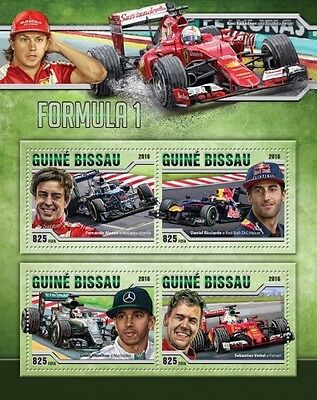 Z08 IMPERFORATED GB16512a GUINEA-BISSAU 2016 Formula 1 MNH Set