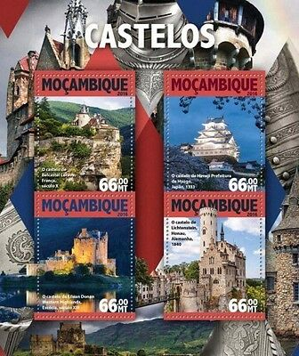 Z08 IMPERFORATED MOZ16126a MOZAMBIQUE 2016 Castles MNH