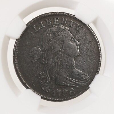 1798 Draped Bust 1C NGC Certified S-148 1st Hair VF Details Early Copper US Cent