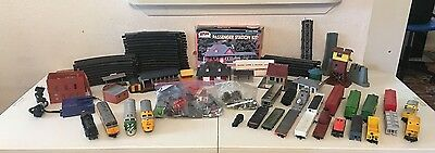 Large Lot Of HO Trains, Engines, Buildings, Track, Accessories And Misc
