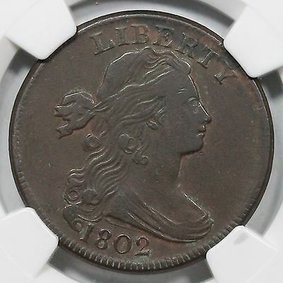 1802 S-242 NGC VF 25 Draped Bust Large Cent Coin 1c