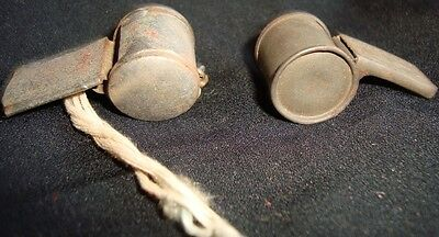2 Old Vintage Tin Whistles Toys from Japan 1930