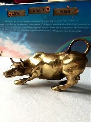 Pure manual Wall Street bull Personality metal crafts  HOT