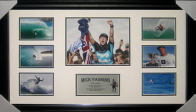 Mick Fanning 3 Times Surfing World Champion Signed & Framed - Photo Proof & Coa