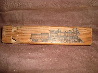 Old Vintage wooden Alaska Rail Road whistle from USA 1960