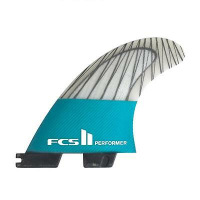 Fcs II Performer PC Carbon Tri Surfboard Fins In XLarge New & Genuine From FCS