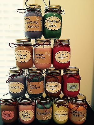 LOT OF (6) Homemade 16 OZ SOY CANDLES!!PICK YOUR SCENTS!!!