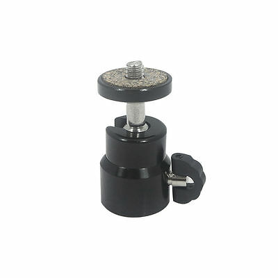 360° Ball Head 1/4'' Hole Flash Mount/Holder/Tripod Br​acket/Adapter light Stand