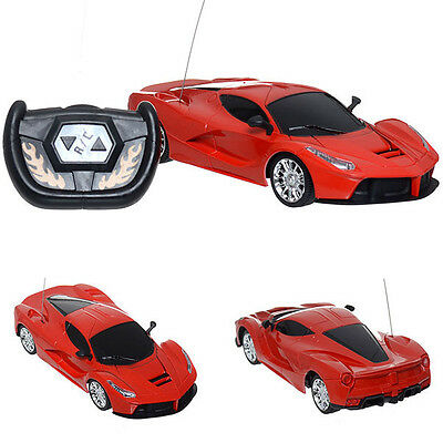 Remote Radio Control Electric Racing 1:24 Scale Cool Red Car Model Toy kid Gift