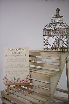 Wedding Gift Wishes Table Decoration Present Sign Engagement Mr and Mrs Vintage