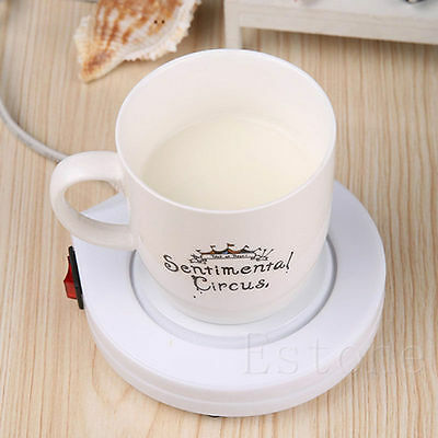 Office House Use Electric Powered Warmer Cup Tea Coffee Mug Milk AC 110V US Plug