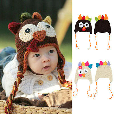 Newborn Baby Crochet Turkey Hats Thanksgiving Outfit Baby Clothes Photo  Props cb4d25744ea