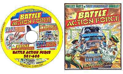 Battle Action Force 501-600 DVD British Comics 100 issues