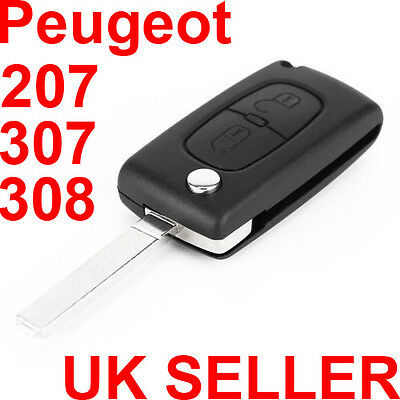 2 Buttons Remote Key Fob Case Uncut Shell Blade HU83 For Peugeot 207 307 308 SW