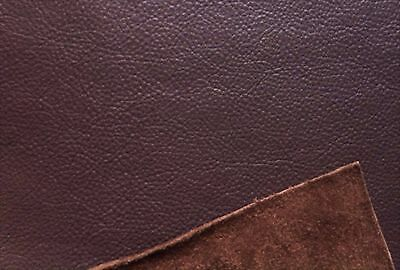 Dark Brown Leather Hide Offcut, Scrap ends, Clothing Furniture & Car Repairs