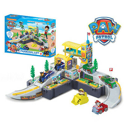 Set of Paw Patrol Car Park Dog Figure Rubble Chase Playground Kids Doll Gift Toy