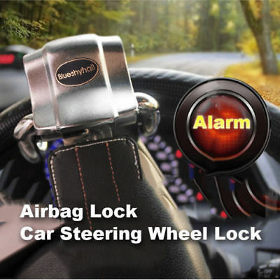 Universal Car Vehicle Top Mount Steering Wheel Anti Theft Security Lock With Key