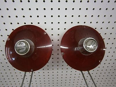 1961 Ford Galaxie 500 Pair Of Tail Light Lens With Backup Lights Oem Frst-61A