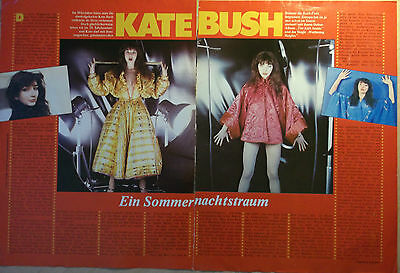 2 german clipping KATE BUSH LIVE NOT SHIRTLESS SINGER ROCK POP BOY BAND BOYS