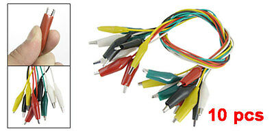 10 Pcs Insulated Alligator Clip Test Lead Cable 45cm 1.5 Ft Sensitive BF