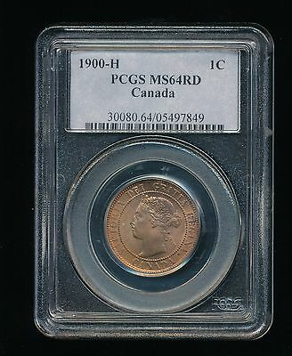 1900-H Canada Large Cent PCGS MS 64 Red (RD) Victorian Penny Heaton Mint