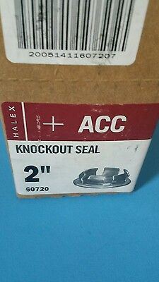 (2) Halex 60720 2 Inch Knock Out Seal,New,Free shipping