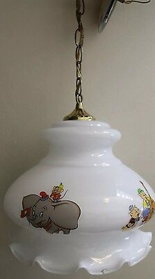 Vintage DIsney Pendant Lamp Mickey Bambi Dumbo Pigs Bambi Home Decor
