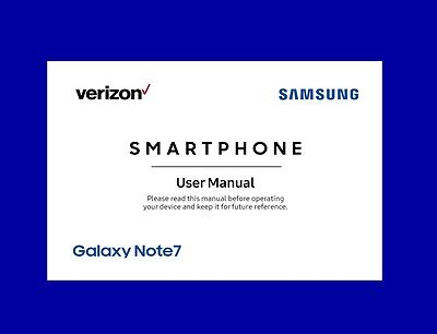 Samsung Galaxy Note 7 User Manual for Verizon (SM-N930V, Android Marshmallow)