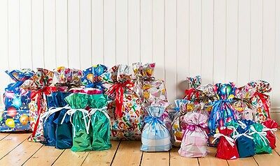GiftMate 30 Piece Assorted Drawstring Gift Bags for perfect simple wrapping