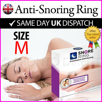 ANTI SNORE RING Stop & Reduce Snoring Acupressure Goodnight Sleep (MEDIUM)