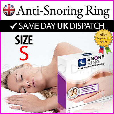 ANTI SNORE RING Stop & Reduce Snoring Acupressure Goodnight Sleep (SMALL)