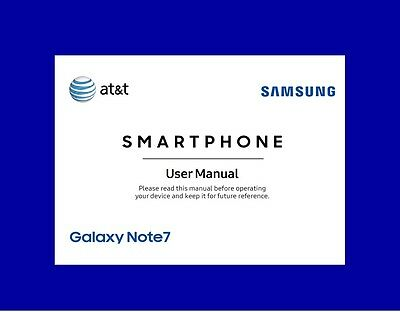 Samsung Galaxy Note 7 User Manual for AT&T (SM-N930A, Android Marshmallow)