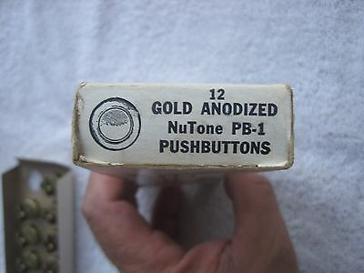 Vtg Nos Nutone Pb-1 Doorbell Push Button Art Deco Gold Anodized