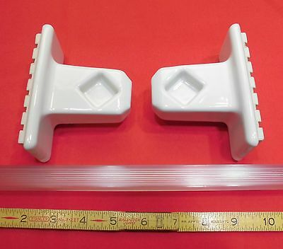 """Vintage… White Porcelain…Towel Bar Brackets...one pair with 24"""" pole...NOS"""