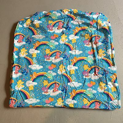 Care Bears Fitted Crib Sheet Fabric Handmade Blue Background