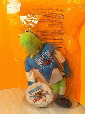 1995 Mcdonalds Muppets NHL conference Kermit in package