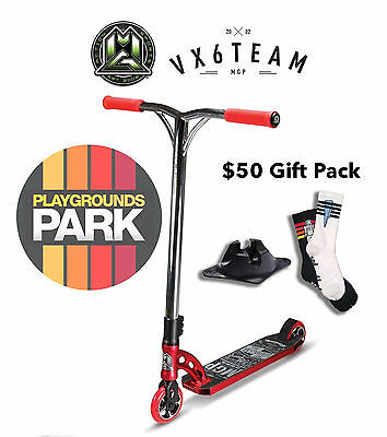 MGP VX6 TEAM scooter + $50 Gift pack, 2016 Red / Chrome Madd Gear