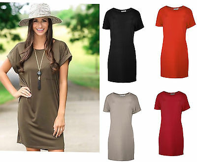 Women's Shirts Ladies Oversized Classic Elegance Shift Dress Tunic Top Plus Size